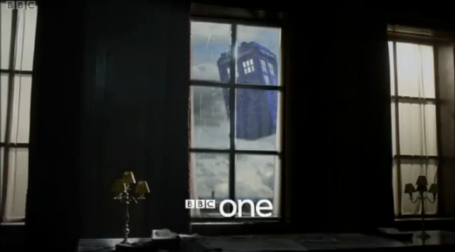 A sneak peek of the TARDIS from the second half of Doctor Who, Season 6