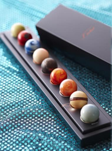 Chocolate planets by Japanese chocolatier, L'eclat