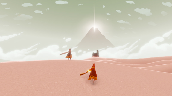 Screenshot from Journey, by ThatGameCompany