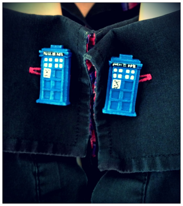 TARDIS shaped cufflinks